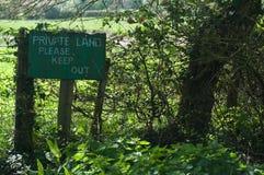 La terra privata tiene fuori Immagine Stock Libera da Diritti