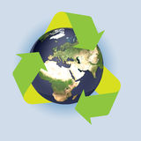 La terra ricicla Immagine Stock