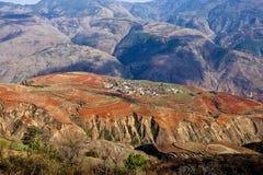 La terra rossa Fotografia Stock Libera da Diritti