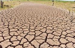 La terra secca a causa della caduta della dose della pioggia non e della terra mancava di Immagine Stock Libera da Diritti