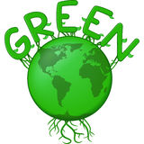 La terra verde Fotografie Stock Libere da Diritti