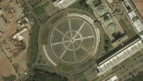 La terra zumma lo zoom verso l'esterno Abuja Nigeria video d archivio