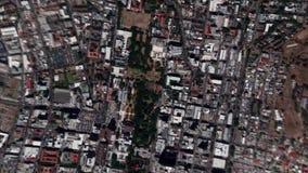 La terra zumma lo zoom verso l'esterno Cape Town Sudafrica stock footage