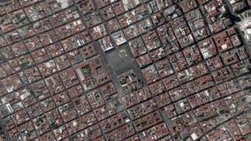 La terra zumma lo zoom verso l'esterno Ciudad de Messico stock footage