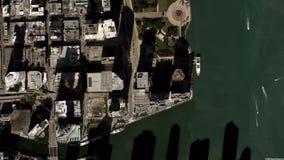 La terra zumma lo zoom verso l'esterno Miami Stati Uniti stock footage