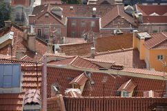 La terracotta ha piastrellato i tetti Fotografia Stock Libera da Diritti