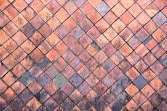 La terracotta piastrella la parete per il fondo astratto di struttura Fotografia Stock Libera da Diritti