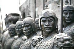 La terracotta scolpisce la descrizione degli eserciti di Qin Shi Huang, il primo imperatore della Cina fotografie stock libere da diritti