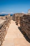 La terrasse antique sur l'île de Delos photographie stock