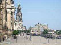 La terrasse de Brühl, Dresde Image libre de droits