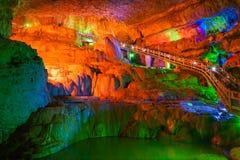 La terrasse de la caverne eau-érodée Image libre de droits