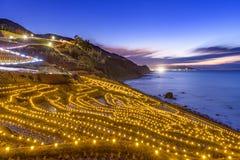 La terrasse de riz s'allument image libre de droits