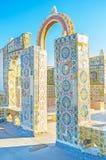 La terrasse sur le toit à Tunis la Médina Photo stock