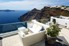 La terraza de la opinión del mar Imagen de archivo libre de regalías