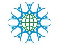 La terre à chaînes Logo-Humaine Photos stock