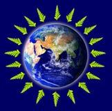 La terre écologique et environnementale illustration de vecteur
