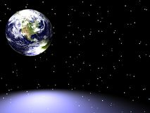 La terre/étoile Scape image stock