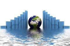la terre 3d (Asie, Europe) et graphique illustration libre de droits