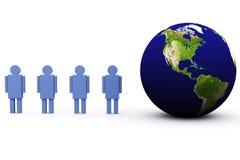 la terre 3d et homme Images libres de droits