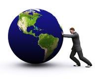 la terre 3d et homme Photos libres de droits