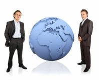 la terre 3d et homme d'affaires Photo libre de droits