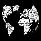 La terre abstraite de globe dans le style polygonal Photos libres de droits