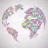 La terre abstraite de globe des pixels colorés Photographie stock libre de droits
