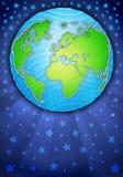 La terre abstraite de planète avec un fond texturisé illustration de vecteur