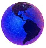 La terre affichant les Amériques Images stock