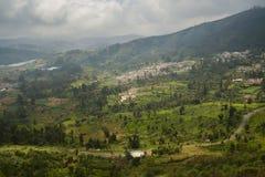 La terre agricole dans Nilgiris près d'Ooty Images stock