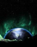 La terre aiment l'aurore de planète Image stock