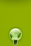La terre amicale écologique économiseuse d'énergie d'ampoule Photographie stock