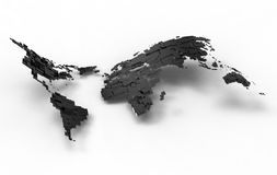 La terre argentée brillante d'onde Images libres de droits