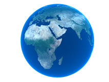 La terre au-dessus du fond blanc Image libre de droits