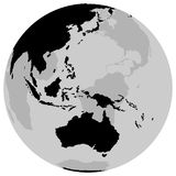 La terre Australie - globe Photographie stock