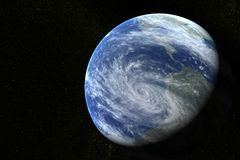 La terre avec des étoiles Image stock