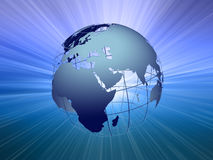 La terre avec la lumière beam#2 illustration de vecteur