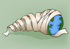 La terre avec le bandage Photos libres de droits