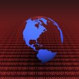 La terre binaire Image libre de droits