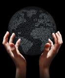 La terre binaire en hausse Photo libre de droits