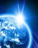 La terre bleue Photo stock