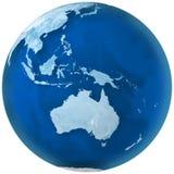 La terre bleue Australie illustration de vecteur