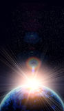 La terre bleue dans l'espace Photographie stock libre de droits
