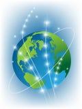 La terre bleue de planète Photo stock