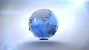 La terre bleue de rotation illustration libre de droits