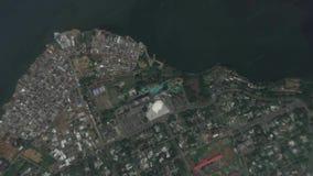 La terre bourdonnent dedans bourdonnement hors d'Abidjan Cote d Ivoire banque de vidéos