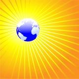 La terre brillante OCÉAN ATLANTIQUE du monde illustration libre de droits