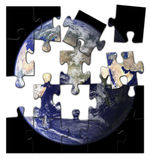 La terre brisée Photo libre de droits