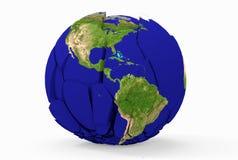 La terre cassée Images libres de droits
