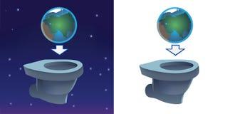 La terre clignotant dans la toilette illustration stock